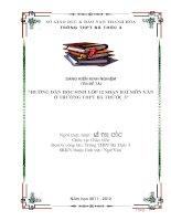SKKN Hướng dẫn học sinh lớp 12 soạn bài môn ngữ văn THPT BÁ THƯỚC 3
