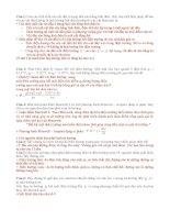 Đề cương ôn tập lý thuyết +bài tập vật lý II