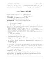 báo cáo thu hoạch Thực tập sư phạm Trung học phổ thông