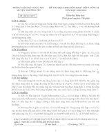 ĐỀ + ĐA THI HSG HÓA 9 VÒNG 2 HUYỆN THƯỜNG TÍN - HÀ NỘI