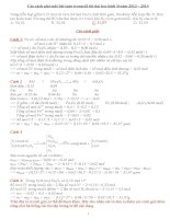 Một số cách vận dụng các định luật để giải bài tập hoá học