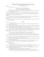 Đề khảo sát HKI Ngữ văn 9 10-11