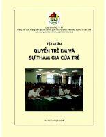 Tài liệu tập huấn về Quyền trẻ em và sự tham gia của trẻ.