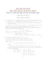Giải bài tập về ánh xạ tuyến tính
