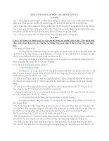 CÂU hỏi và đáp án môn lý THUYẾT tài CHÍNH TIỀN tệ