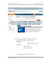 KHÓA LUẬN TỐT NGHIỆP XÂY DỰNG KHO CHỈ MỤC BÀI BÁO KHOA HỌC DÙNG WEB CRAWLER