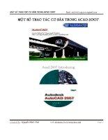 Một số thao tác cơ bản trong Atucad 2007