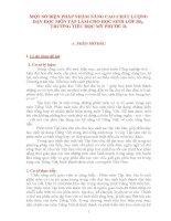 MỘT SỐ BIỆN PHÁP NHẦM NÂNG CAO CHẤT LƯỢNG DẠY HỌC MÔN TẬP LÀM CHO HỌC SINH LỚP 3B2,  TRƯỜNG TIỂU HỌC MỸ PHƯỚC D