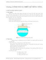 Giáo trình nền và móng - Chương 2 Tính toán và thiết kế móng nông , đại học dân lập kỹ thuật công nghệ Sài GÒn