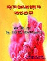 PHEP TRU TRONG PHAM VI 6 - TOÁN