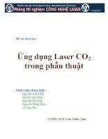 Đề tài ứng dụng laser CO2 trong phẫu thuật, đại học BK TPHCM