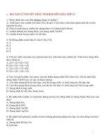 Bài tập lí thuyết trắc nghiệm hóa 12 về amin,aminoaxit,polime,proteein