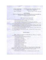 Số: 445/QĐ - UBND ngày 07/3/2011 Quyết định Thanh tra tài chính đối với các trường MN, TH & THCS trên địa bàn huyện.