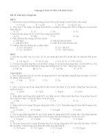 Các bài tập TN Hóa vô cơ 12 (Ban NC)theo 3 mức độ - hay