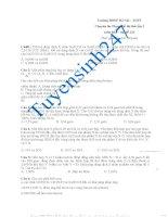Bộ Đề thi thử thpt quốc gia môn hóa của trường chuyên sư phạm Hà Nội lần 2 (có lời giải chi tiết)
