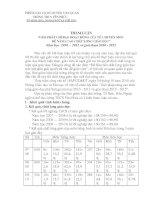 Báo cáo tham luận của môn Hóa Học