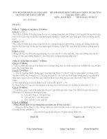 Đề bài kiểm tra năng lực GVG cấp trường (chuẩn)