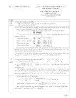 Đáp án đề thi HSGQG năm 2011 môn Hóa học ngày 1