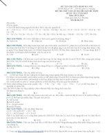 Bộ Đề thi thử thpt quốc gia môn hóa của trường chuyên sư phạm Hà Nội lần 1(có lời giải chi tiết)