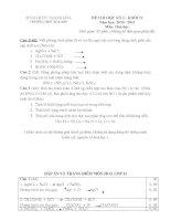 Đề+Đáp án KT HKI Hoá học 11 năm học 10-11
