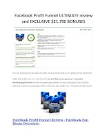 Facebook Profit Funnel review in detail and massive bonuses included