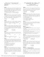 Đề thi thử ĐH môn hóa chuyên Lê Hồng Phong Lần 1 +2 / 2011