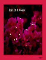 TEARS OF A WOMAN - FOR WOMEN''S DAY : TUESDAY 03/08/2011
