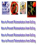 How to Prevent Telemarketers from Calling
