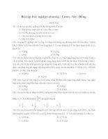 Bài tập trắc nghiệm : Fe-Cr-Cu