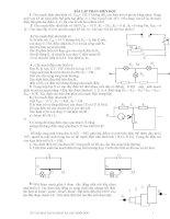 Các bài tập cơ bản và nâng cao điện học