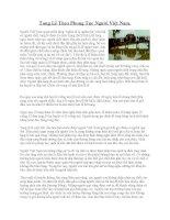 Tang lễ theo phong tục người Việt Nam