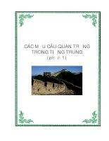 Các cấu trúc câu quan trọng trong Tiếng Trung - Phần 1