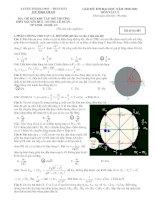 Giải chi tiết Vật Lý K.A2010