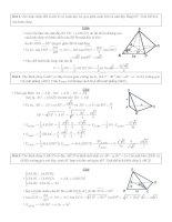 20 bài tập hình học không gian ôn thi đại học có lời giải chi tiết