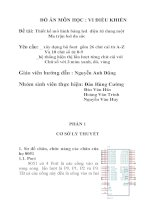 ĐỒ ÁN MÔN HỌC VI ĐIỀU KHIỂN: Thiết kế mô hình bảng led điện tử dùng một ma trận led đa sắc