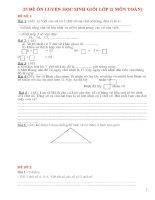 25 đề ôn LUYỆN học SINH GIỎI lớp 2( môn TOÁN)