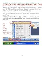 TẠO HIỆU ỨNG VẼ ĐỒ THỊ TRONG POWER POINT 2003