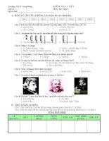 Đề kiểm tra 1 tiết  Âm nhạc 6