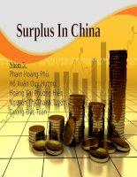 Tiểu luận môn tài chính quốc tế Nghiên cứu thặng dư thương mại Trung Quốc