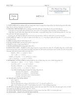 LÝ THUYẾT và bài tập hóa học 11