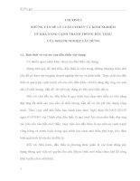 PHÂN TÍCH VÀ ĐÁNH GIÁ KHẢ NĂNG CẠNH TRANH TRONG ĐẤU THẦU CỦA CÁC DOANH NGHIỆP XÂY DỰNG Ở NƯỚC TA TRONG THỜI GIAN QUA
