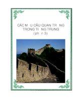 Các cấu trúc câu quan trọng trong Tiếng Trung - Phần 3