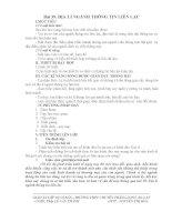 BÀI 39:ĐỊA LÍ NGÀNH THÔNG TIN LIÊN LẠC