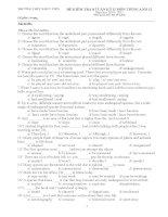 đề kiểm tra 8 tuan kì II môn Tiếng Anh 12
