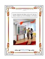 GIÁO TRÌNH HƯỚNG DẪN SỬ DỤNG  PHẦN MỀM ACTIVINSPIRE_STUDIO