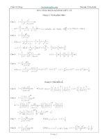 Cách giải các bài toán tích phân dạng hữu tỉ