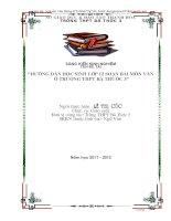 HƯỚNG dẫn học SINH lớp 12 SOẠN bài môn văn ở TRƯỜNG THPT bá THƯỚC 3