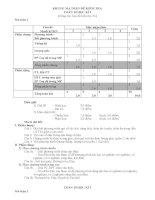 Ma trận đề kiểm tra Toán lớp 10 HK II (tham khảo)