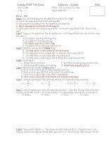 Bài kiểm tra 15 phút 12CB - Đề 02