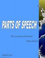 PARTS OF SPEECH - PRESENTATION 2